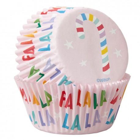 """75 caissettes à cupcakes standard """"Sucre d'orge"""""""