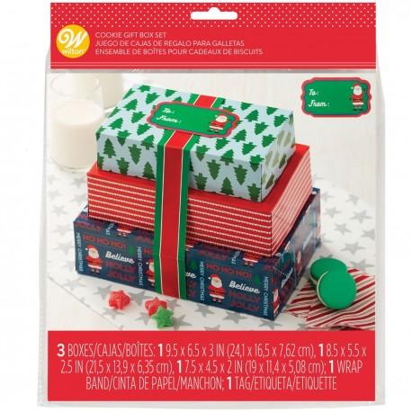 """3 boîtes à confiseries """" Noël"""""""
