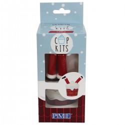 """Kit pour cupcakes """"Père Noël"""""""