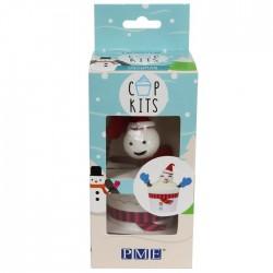 """Kit pour cupcakes """"Bonhomme de neige"""""""