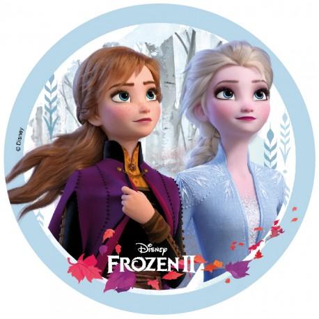 """Disque azyme """"Elsa et Anna"""" - La Reine des neiges 2"""" - 18 cm"""