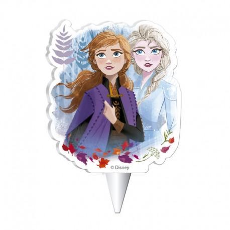 """Bougie d'anniversaire """"Elsa et Anna, La Reine des Neiges 2"""""""