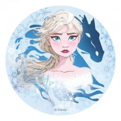 """Disque azyme """"Elsa - La Reine des Neiges 2"""" - 20 cm"""