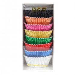 """100 caissettes à cupcakes standard """"Effet métallique"""""""