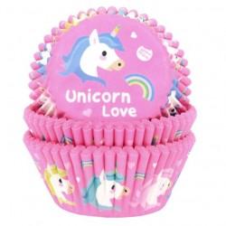 """50 caissettes à cupcakes standard """"Licorne"""""""