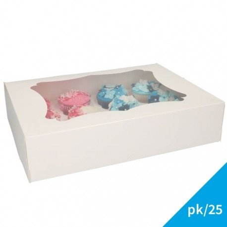 Lot de 25 boîtes à cupcakes (12 cupcakes standards/boîte)