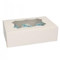 Lot de 3 boîtes à cupcakes (6 cupcakes standards/boîte)