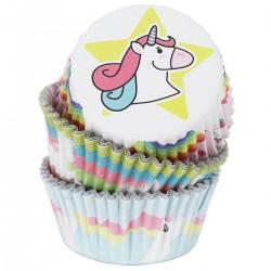 """60 caissettes à cupcakes standard """"Licorne"""""""