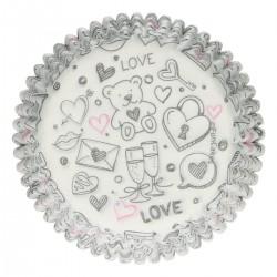 """48 caissettes à cupcakes standard """"Love Doodle"""""""