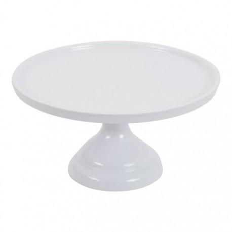 Petit présentoir à gâteaux blanc - 23.2 cm