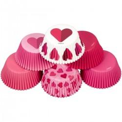 """150 caissettes à cupcakes standard """"Be mine"""""""