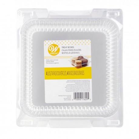 4 boîtes de conservation pour biscuits en plastique