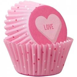 """100 mini caissettes à cupcakes """"Love"""""""