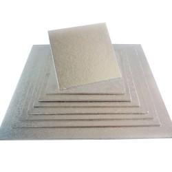 Support à gâteau argent carré épaisseur 2mm - Différentes tailles