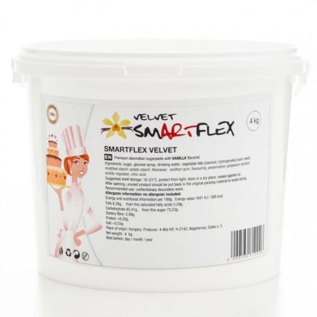 Pâte à sucre Smartflex 4kg - Blanc