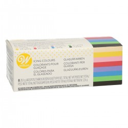 Coffret de 8 colorants alimentaires gel