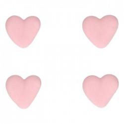 """8 décors en sucre """"Cœur rose"""""""