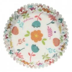 """48 caissettes à cupcakes standard """"Floral"""""""