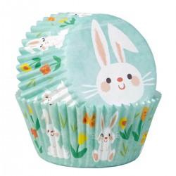 """75 caissettes à cupcakes standard """"Petit lapin"""""""