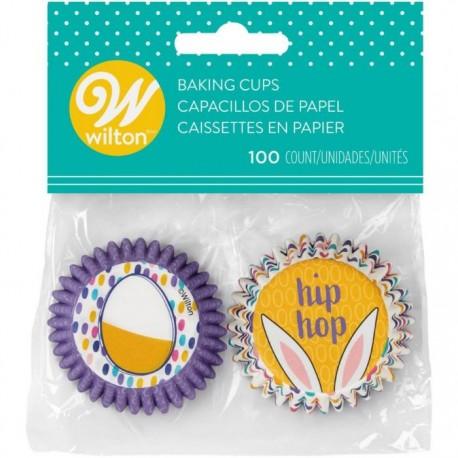 """100 mini caissettes à cupcakes """"Pâques"""""""