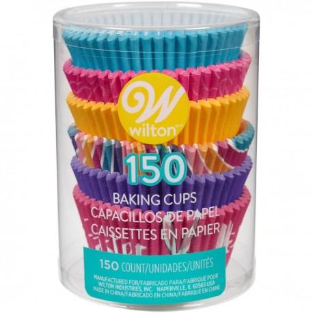 "150 caissettes à cupcakes standard ""Happy Easter"""