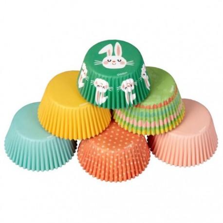 """150 caissettes à cupcakes standard """"Pâques"""""""