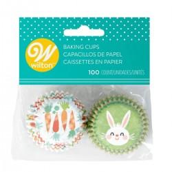 """100 mini caissettes à cupcakes """"Lapin de Pâques"""""""