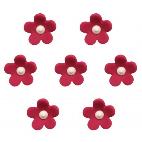 """7 décors en sucre """"Fleurs rouges"""""""