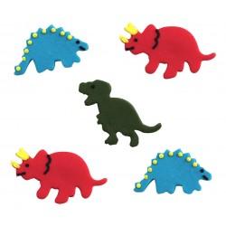 """5 décors en sucre """"Dinosaures"""""""