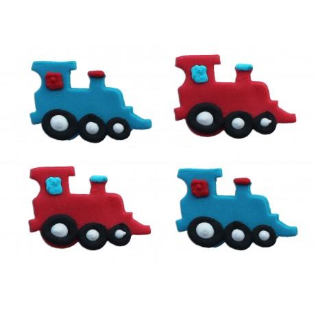 """4 décors en sucre """"Trains"""""""