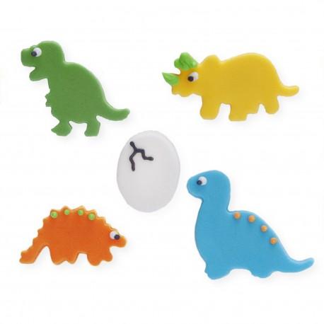 """5 décors en sucre """"Bébés dinosaures"""""""