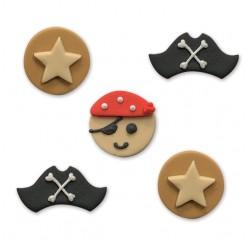 """5 décors en sucre """"Pirates"""