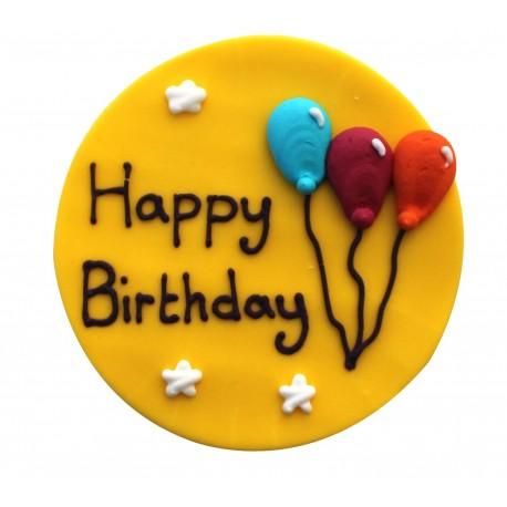 """Décor en sucre """"Happy Birthday"""""""