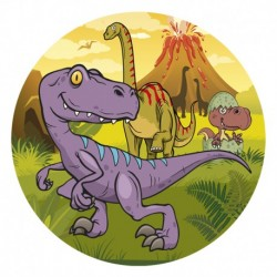 "Disque azyme ""Dinosaures"" - 20 cm"