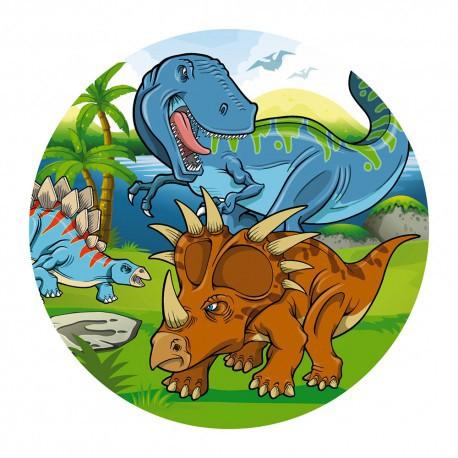 """Disque azyme """"La bande de dinosaures"""" - 20 cm"""