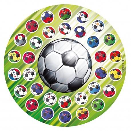 """Disque azyme 16 cm """"Ballons de Football"""""""