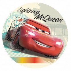 "Disque azyme 16 cm ""Cars Flash Mc Queen"""