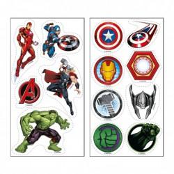 """13 décorations comestibles en azyme """"Avengers"""" à découper"""