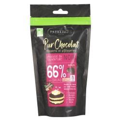 Palets de chocolat noir de couverture bio 66% - 200g