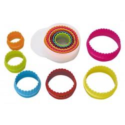 Set de 6 emporte-pièces ronds cannelés
