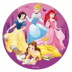 """Disque azyme """"Princesses Disney"""" sans sucre - 16 cm"""