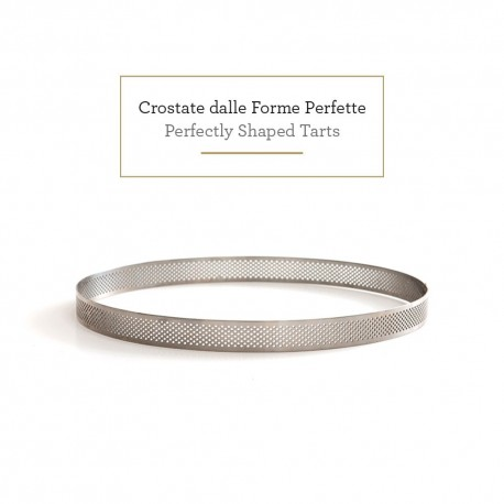 Cercle à tarte perforé - Différents diamètres x 3,5 cm de hauteur