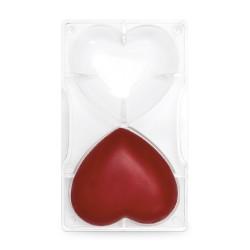"""Moule à chocolat """"Coeur"""" - 2 cavités"""