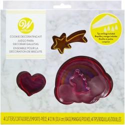 """Kit de décoration pour biscuits """"Monde des licornes"""""""