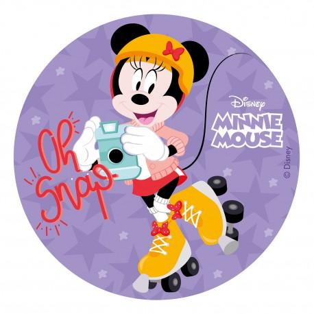 "Disque azyme ""Minnie la paparazzi"" - 20 cm"