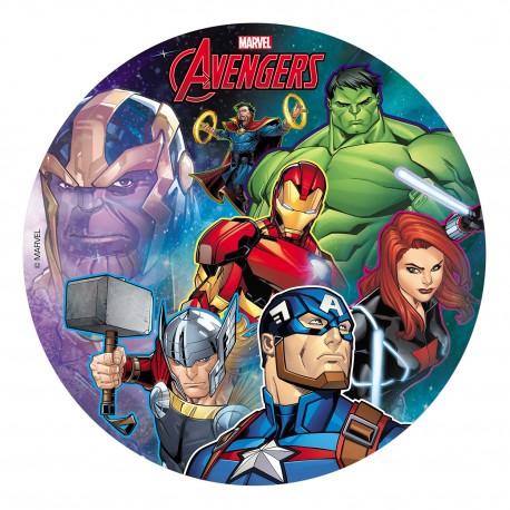 """Disque azyme """"Avengers"""" - 20 cm"""