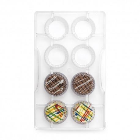"""Moule à chocolats """"Caissettes"""" - 8 cavités"""