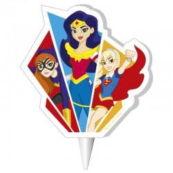 """Bougie d'anniversaire """" Super héroïnes"""""""