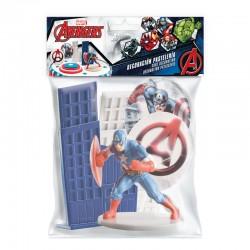 """Kit de décoration pour gâteau """"Captain America"""""""