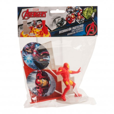 """Kit de décoration pour gâteau """"Iron Man"""""""